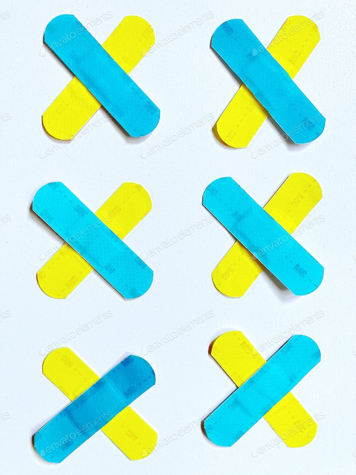 Bright and colorful bandages