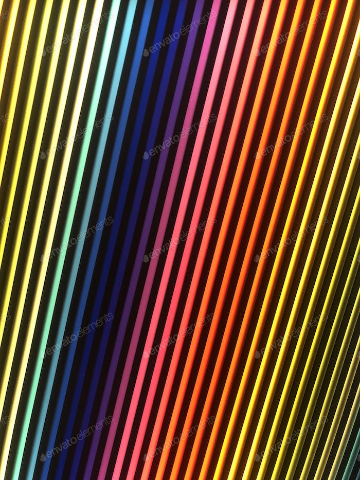 Rainbow bright neon color stripes red yellow blue