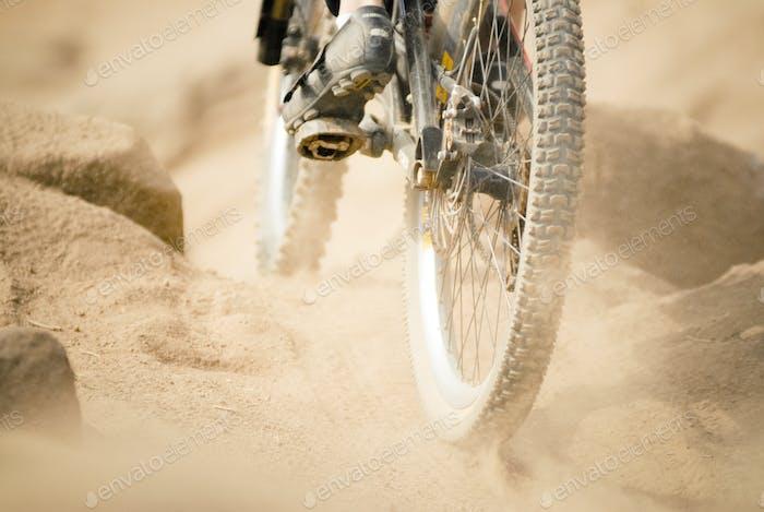 Adrenaline pumping mountain biking
