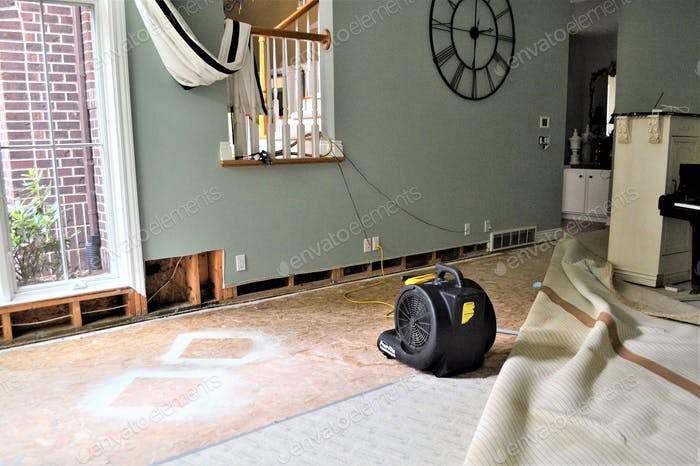 water leak home property damage repair