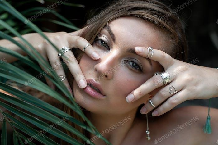 tropical female portrait
