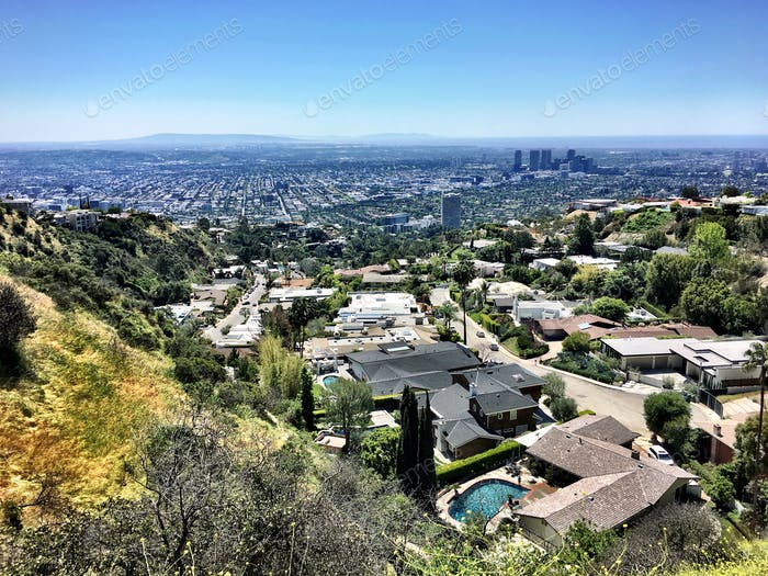 A view of Hollywood from the Hollywood hills! 12 noon mid week in late May.
