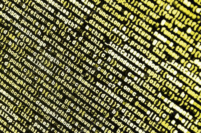 Código JavaScript en el editor de texto