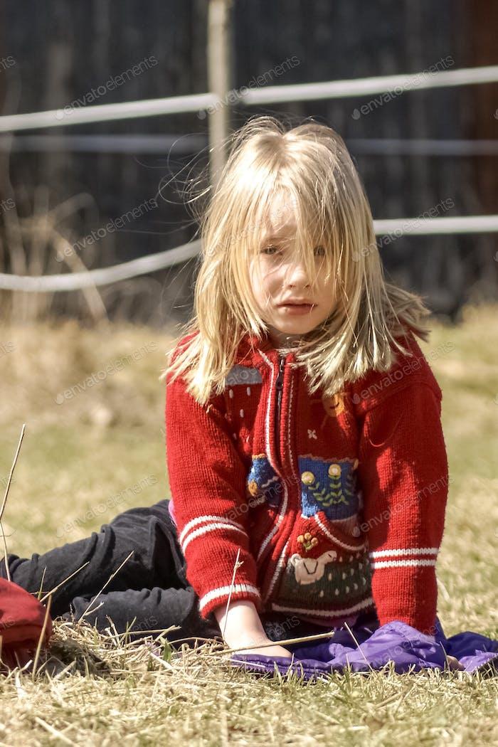 Girl looking a bit sad