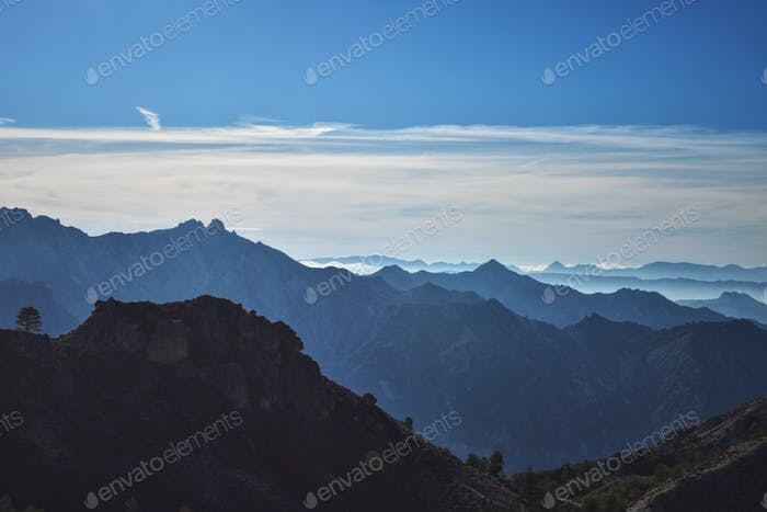 Panorama from Trevenque Creek, Sierra Nevada, Spain