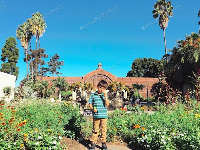 Balboa park with little kid