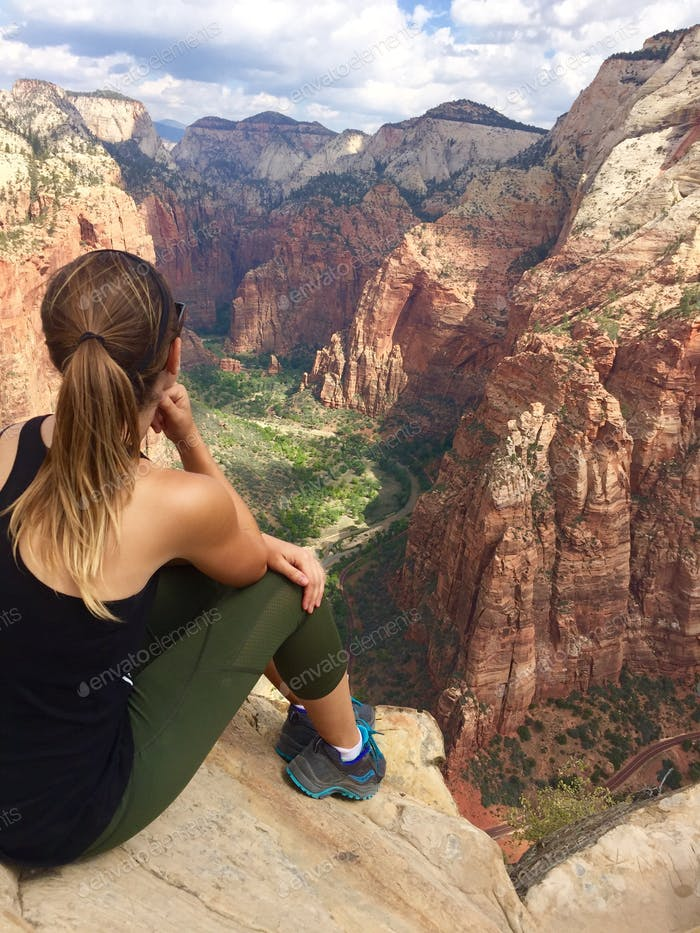Taking in an epic view in Zion