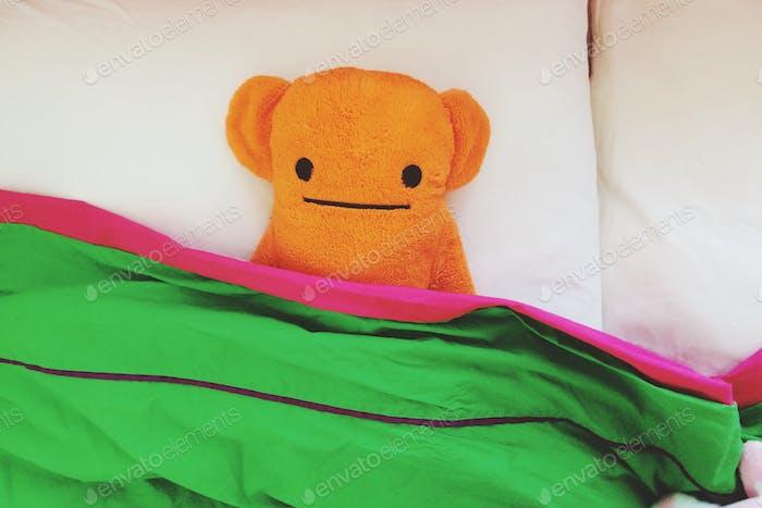 Orange Teddybär
