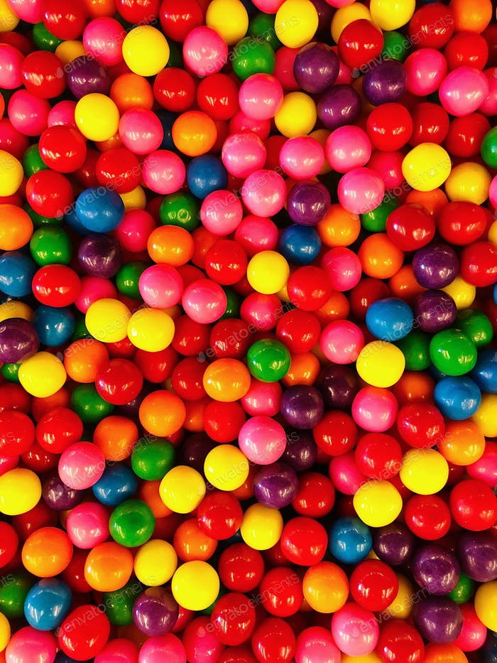 Colorful Halloween candy in bulk