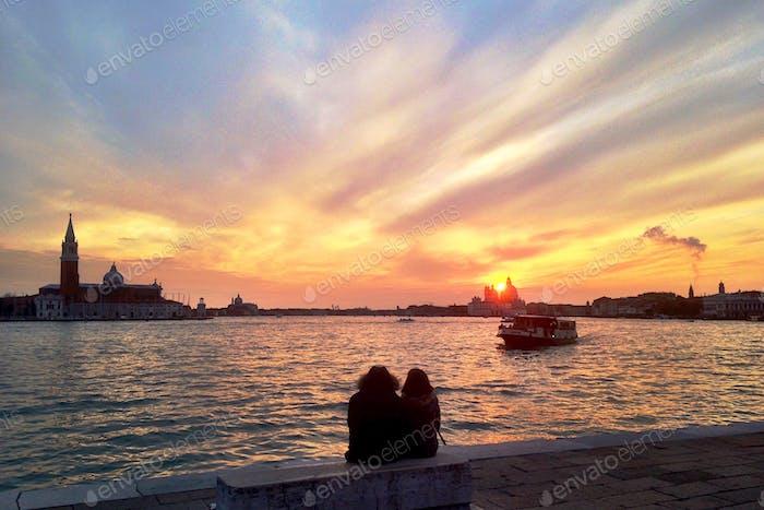 Venezia | Italia. Waiting for Vaporetto, the local water-bus.