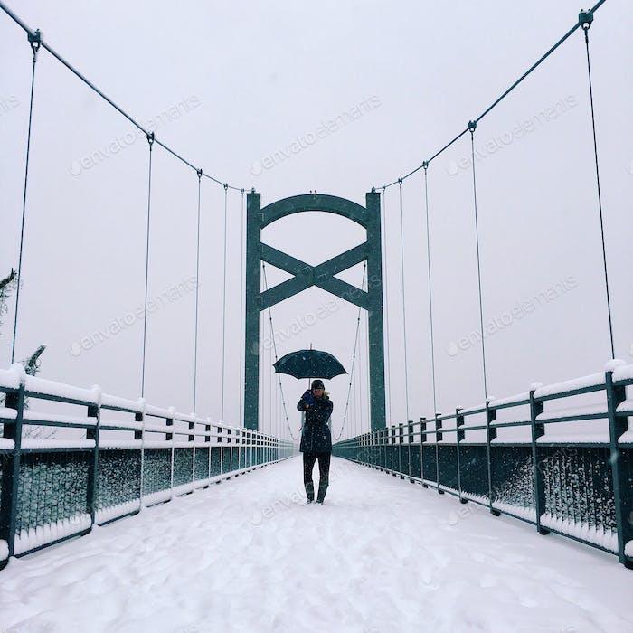 Snow fall in Nashville TN.