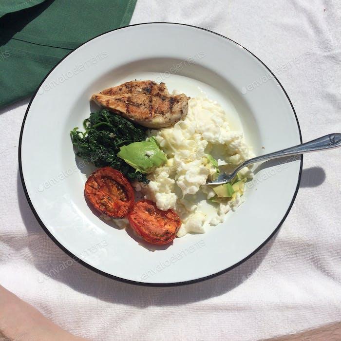 Protein-Platte