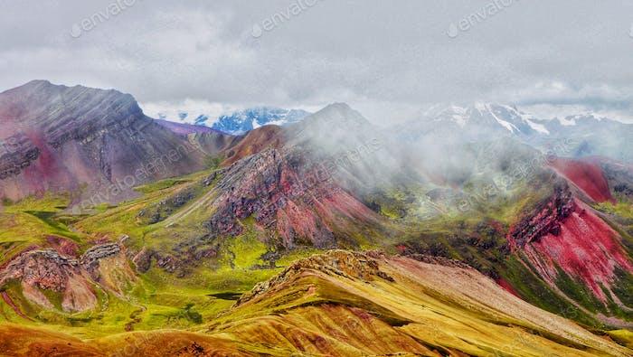 Montaña de Siete Colores en Perú, América del Sur Ausangate