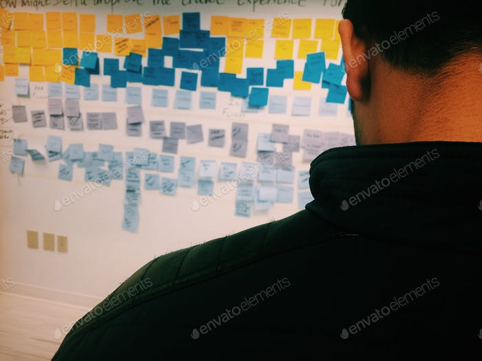 Agile scrum development at office