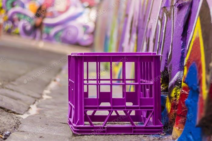 Purple crate...