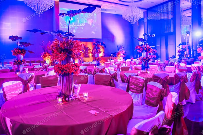 Indian wedding reception dinner table