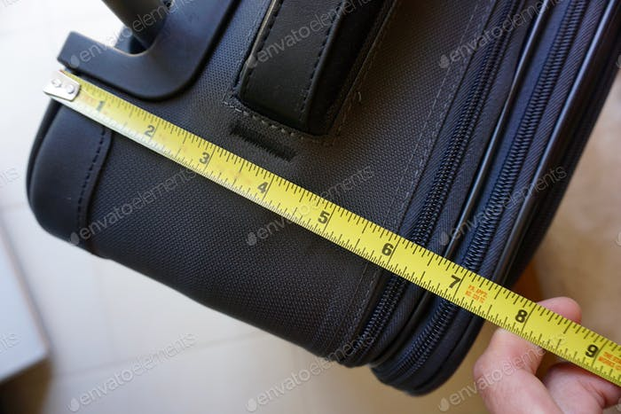 Measuring luggage to meet airline baggage requirements