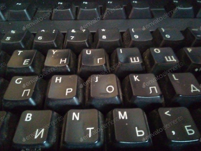 Old dusty keyboard. old, laptop, dusty, keyboard