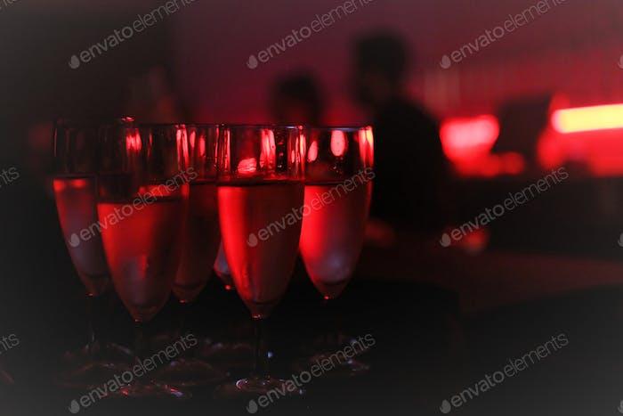 Night club red lights