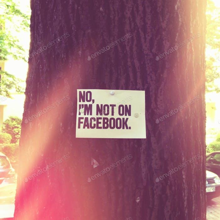 No I'm not on Facebook.
