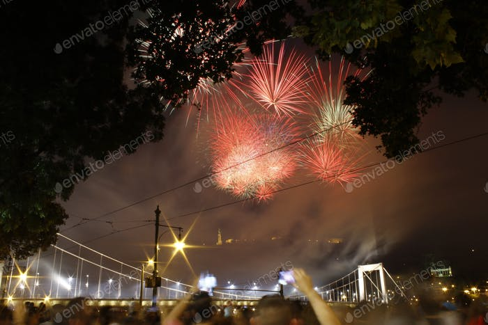 Budapest fireworks show August, 20, 2016