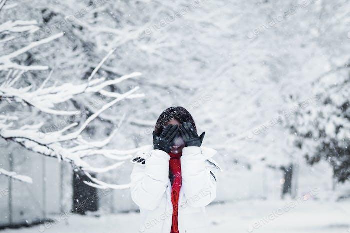 Peek-a-boo, winter is here!