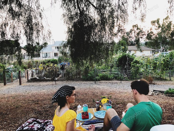 Date night in the community garden