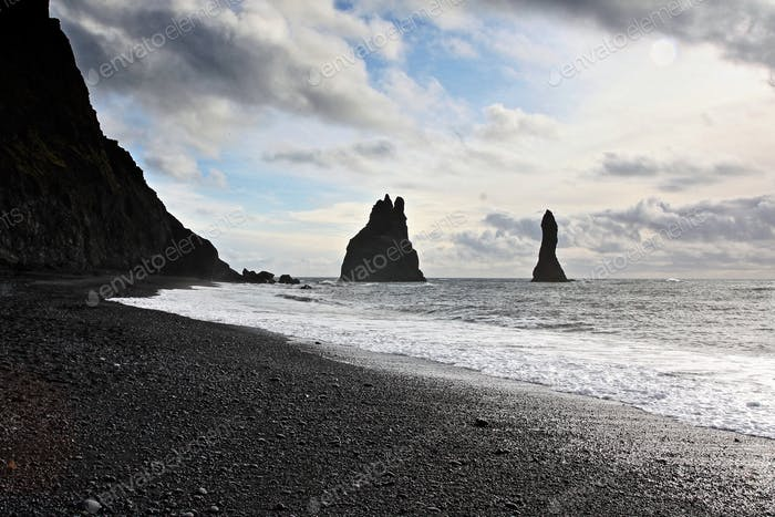 Sea stacks in southern Iceland