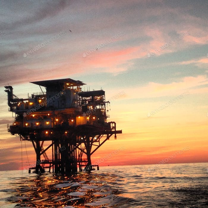 Oil rig in the Gulf of Mexico.