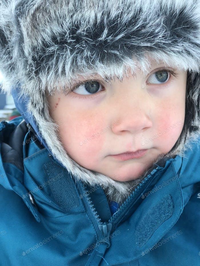 Child in the arctic, portrait