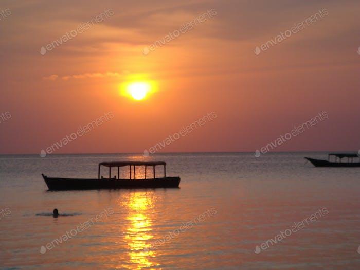 Zanzibar at sunset
