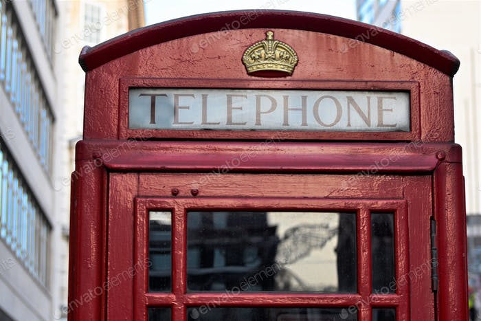 London's iconic red telephone booth