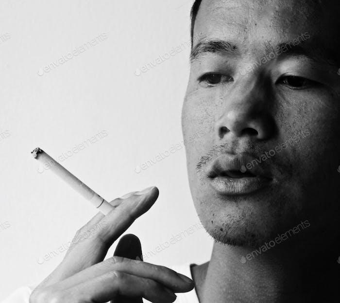 Laotian smoking