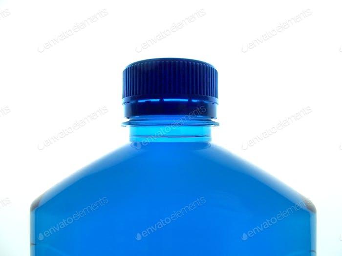 Botella de plástico azul - detergente de lavado de coches