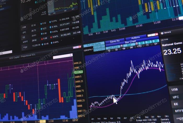 Gráficos gráficos de velas de datos de análisis de inversión bursátil