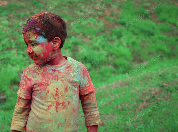 Festivity of colors and holi