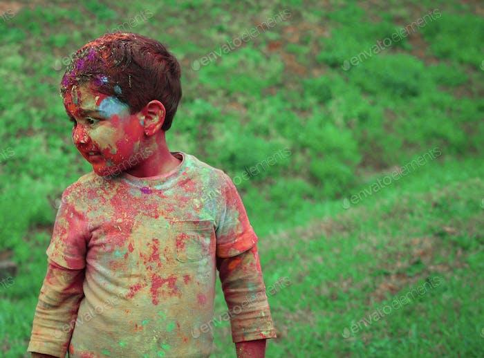 Fiesta de colores y holi