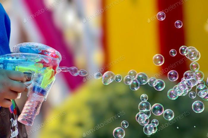 Bubble gun.