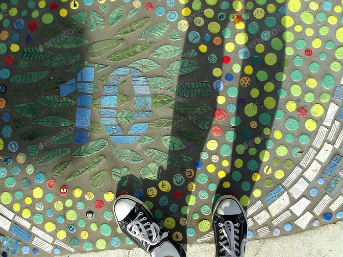 Street art underfoot