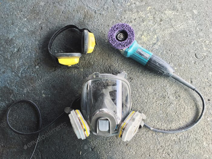 Power tools and safety protective equipment