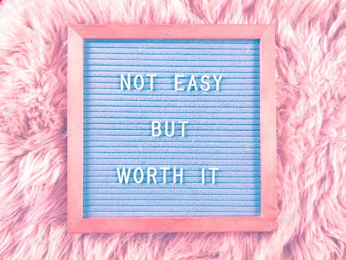 Nicht einfach... aber es lohnt sich