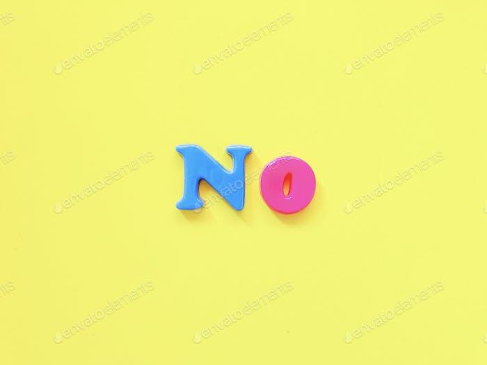 NO fridge alphabets