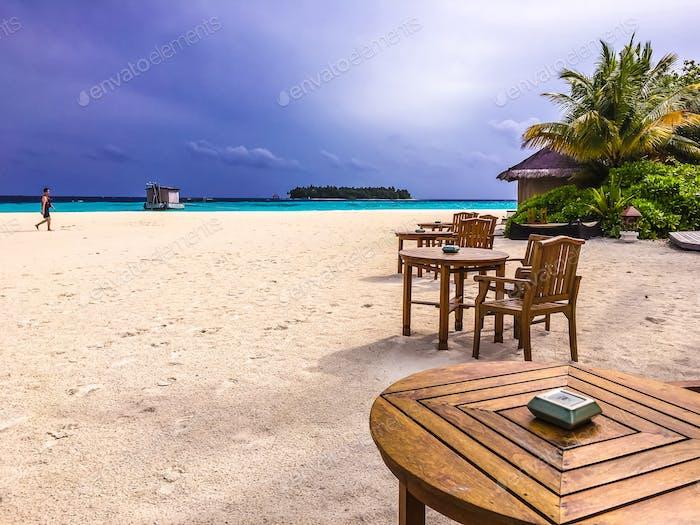 Strandblick Malediven Insel