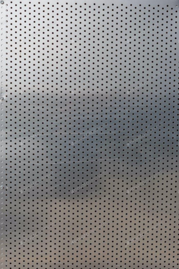punched aluminum sheet background