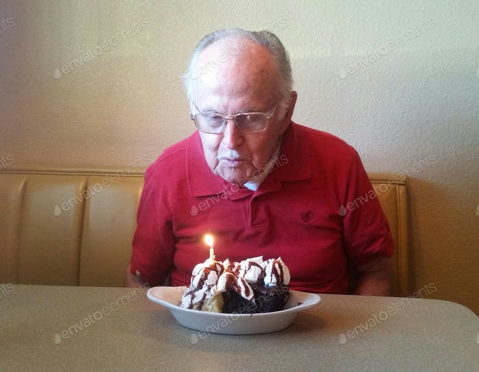 He Huffed and he puffed and he blew that big ole candle out!....93!