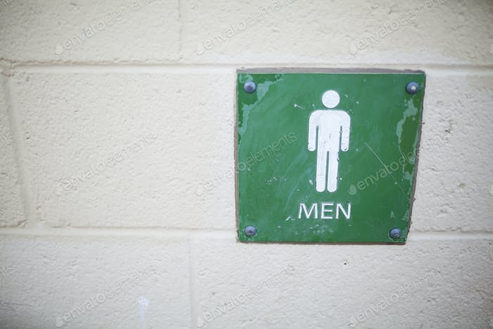 bathroom sign for womens bathroom in a public restroom