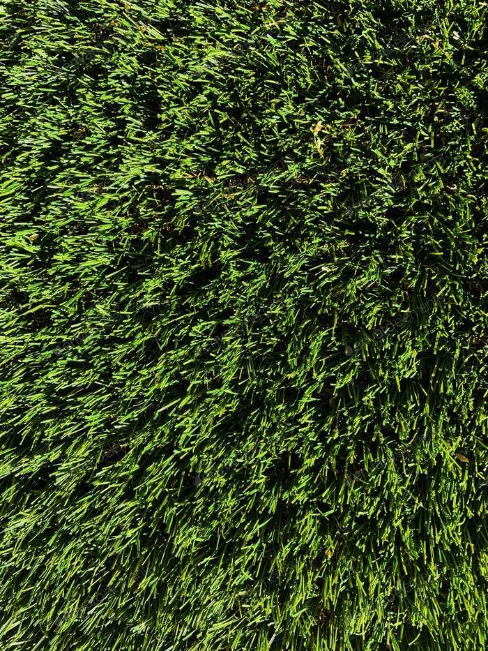 Close shot of synthetic grass that looks so real