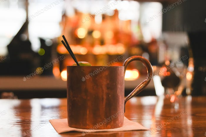 Moscow Mule at the Bar