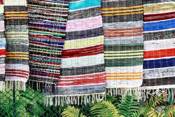 Handgefertigter gewebter, Patchwork oder geflochtener Teppich NOMINIERT 🌿