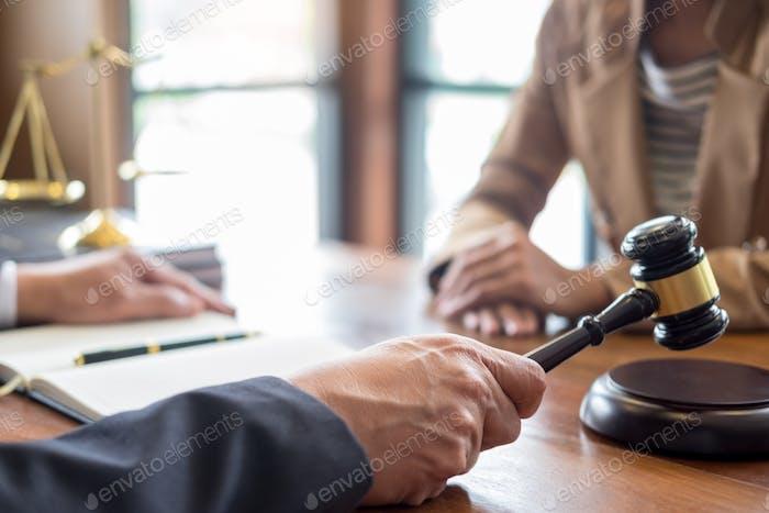 lawyer in office